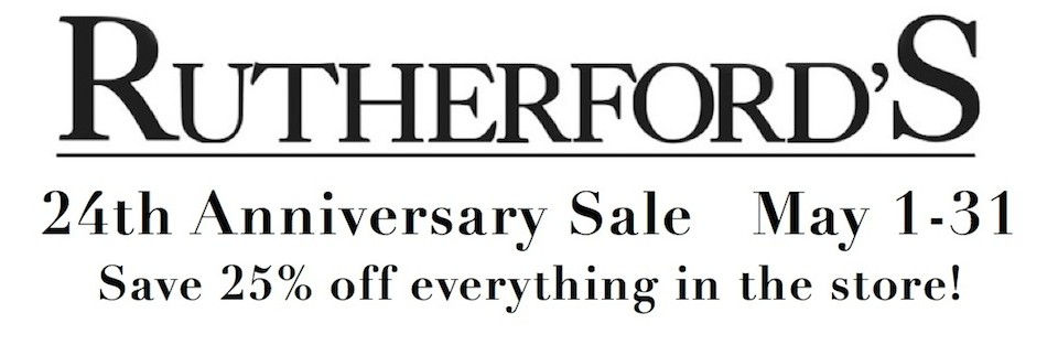 Rutherfords Design 24 anniversary sale banner
