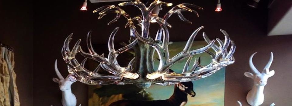 The Crystal Antler Chandelier from Lawson Glass